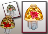 image de veilleuse fleurs colorées
